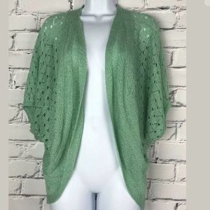 The Cue Cher Qu Anthro Lace Open Front Cardigan M